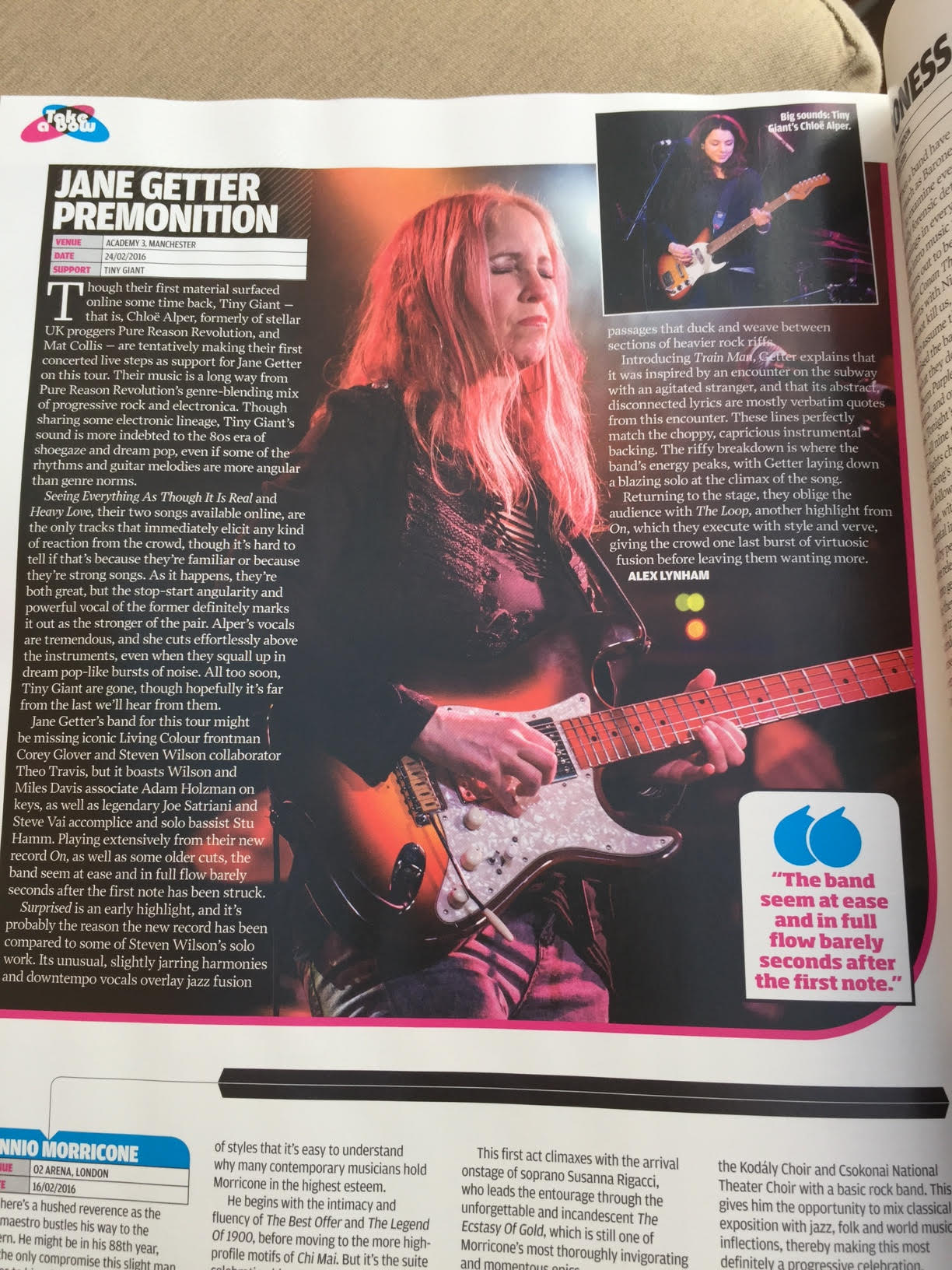 Jane Getter's February show in Manchester profiled by Prog Magazine.